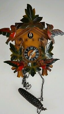 Vintage German Musical Cuckoo Clock For Spares Or Repairs