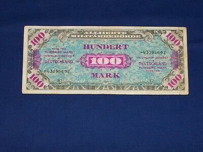 MPC Military Payment Certificate.100 Marks.Series 1944.SN-43394697