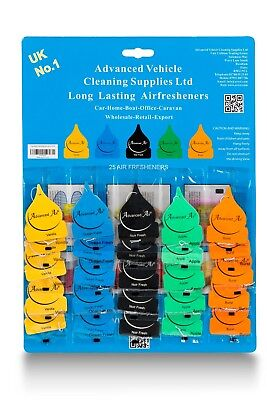 50 X Assorted ADVANCED AIR Hanging Air freshener-Perfect for Valeters/Car Washes