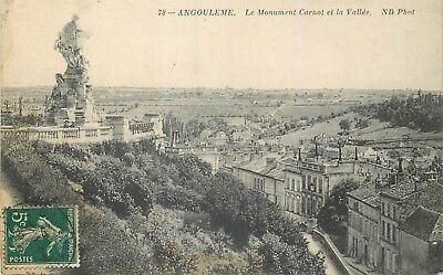 Cp Angouleme Monument Carnot Et Vallee Nd