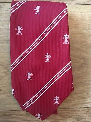 Vintage tie MUFC FA Cup Winners 1977 Manchester United FC