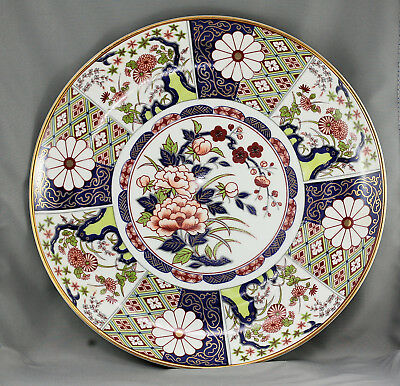 Spectacular Antique Japanese Hand Painted Imari Charger Signed Circa Late 1800s