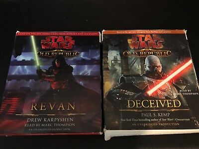 """Star Wars The Old Republic """"Deceived & Revan"""" Audiobooks On CD, Ex Cond"""
