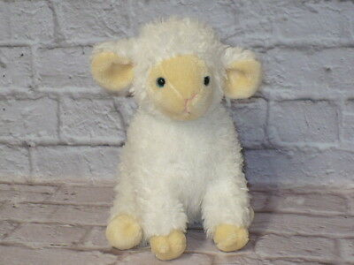 "Commonwealth Toys White EASTER LAMB SHEEP Plush Stuffed Animal 12"" tall"