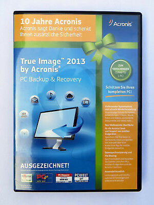 Software Datensicherung Acronis True Image 2013 PC Backup & Recovery