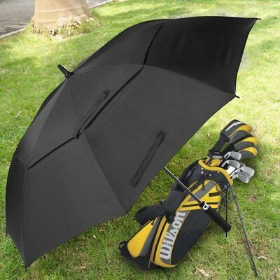 Extra Large Double-canopy Windproof Waterproof Automatic Open Golf Umbrella UK