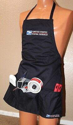 USPS Postal Apron With Postal Logo Embroidered Adjustable with Pockets NAVY NEW