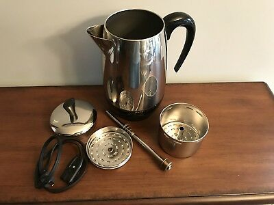 Farberware Superfast Coffee Percolator Maker Pot 138-B Automatic 2-8 Cup