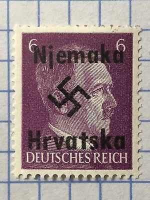 GERMANY CROATIA WWII-GERMAN OCCUPATION  6 Pfg. MNH Private Issue