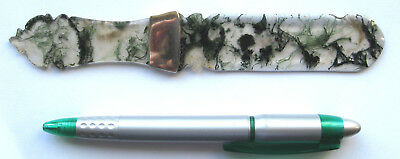 Antique Chinese 19th Century Carved Agate & Silver Letter Opener or Paper Knife