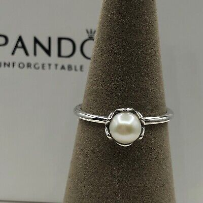 583a30100 Authentic Pandora Cultured Elegance White Pearl Ring #190865P-50(5)