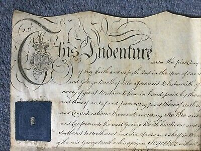 Indenture Dated 1783 23.5 Inches X 14 Inches