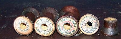 lot of 152 antique wood thread spools Hall's best cotton connecticut