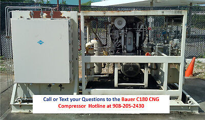 Used Bauer C180 CNG Compressor on Skid