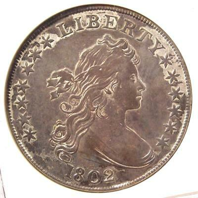 1802 Draped Bust Silver Dollar $1 Coin B-6 - ANACS XF45 (EF45) - $5,000+ Value!