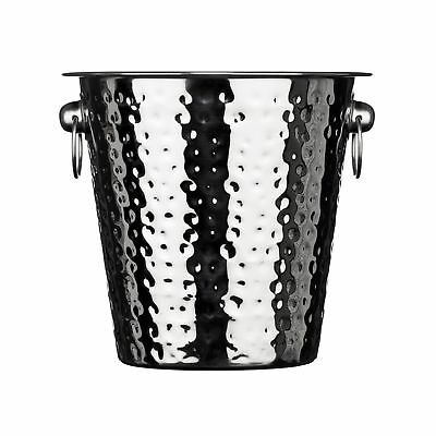 Premier Housewares Champagne Bucket - Hammered Stainless Steel .