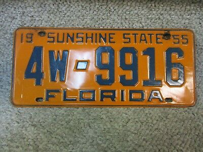 A++ 1955 Florida Sunshine State License Plate