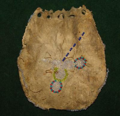 Antique Mid 1800's Native American Plains Indian Medicine Bag or Tobacco Pouch