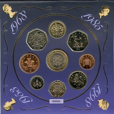 1998 United Kingdom Brilliant Uncirculated Coin Collection UK Royal Mint - JB192