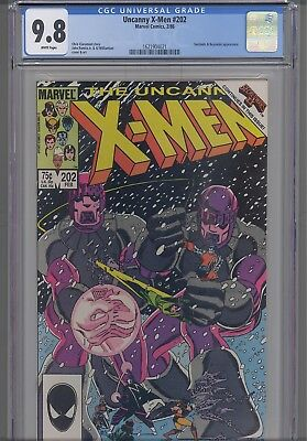 Uncanny X-Men #202  9.8  1981 Marvel  Beyonder & Sentinels Comic: NEW Frame