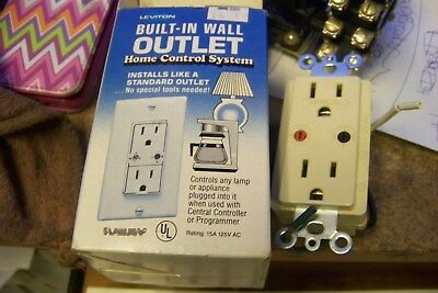 leviton 801-6227-I built in wall outlout home control system ~ lot of 2