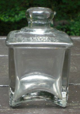 Vintage Climax Inkwell Bottle Clear Glass No Stopper