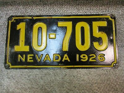 A+ 1926 Nevada License Plate  Las Vegas