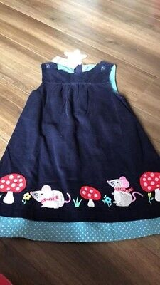 BNWT Jojo Maman bebe mouse pinafore dress 3 - 4 years
