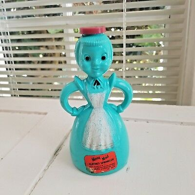Vintage Merry Maid Laundry, Clothes Sprinkler,turquoise