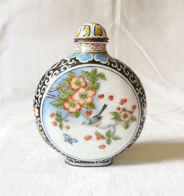 V Finely Painted In Enamels Antique Early 20Th C Chinese Snuff Bottle Signed
