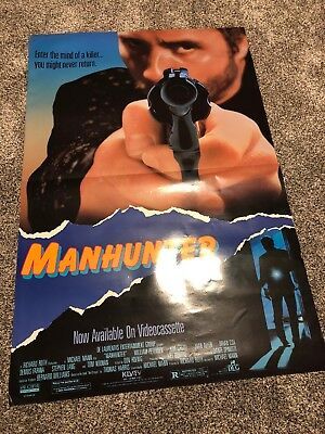 MANHUNTER  / ORIGINAL ROLLED ONE-SHEET MOVIE POSTER 27x41 Very Good Condition