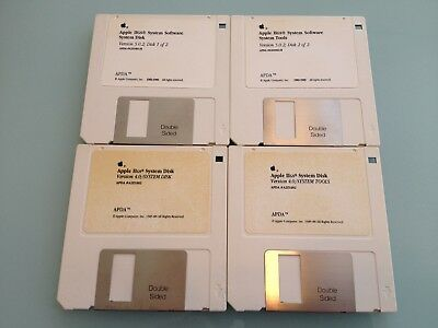 1988 & 1989 Vintage APPLE IIgs computer software SYSTEM DISKS used RARE 4.0 5.0