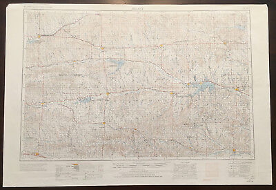 Original Vintage 1969 Beloit Kansas Topo Map USGS 1:250,000
