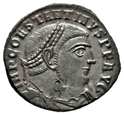 CONSTANTINE THE GREAT (315 AD) Rare Follis, Antioch #IU 673