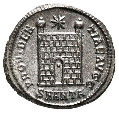 CONSTANTINE THE GREAT (334 AD) Very Rare Follis, Antioch #IU 679