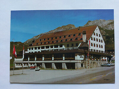 St.Christoph a.d.Arlberg Austria colour Postcard c1970s Hotel with period cars