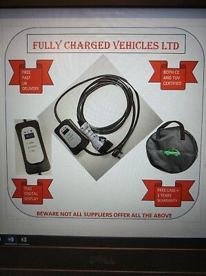 Renault Zoe EV charger (41kwh battery). Portable so charge at home/work.