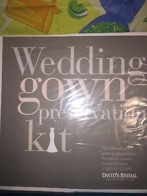 Wedding Gown Preservation Kit New in Box Davids Bridal Dress Storage