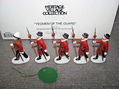 """Vintage Dept 56 Dickens Village """"Yeomen Of The Guard #58397 Christmas Heritage"""
