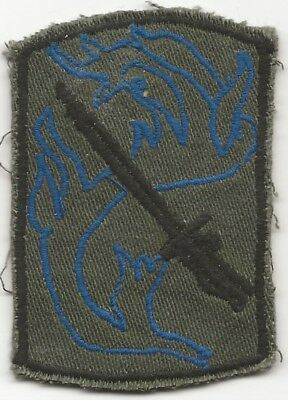 Vietnamese Made Blue Highlighted 198th Light Infantry Brigade Subdued Style SSI