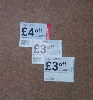 Tesco Vouchers Money Off Save £10 - In Store Only.