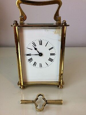 Vintage 8 Day Carriage Clock . Perfect Working Order .