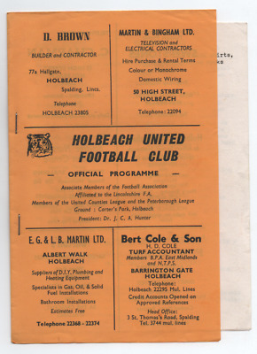 Holbeach United v Rushall Olympic 1982 1982/83 FA Cup 2nd Qualifying round