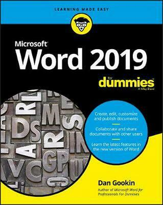 Word 2019 For Dummies by Dan Gookin Paperback Book Free Shipping!