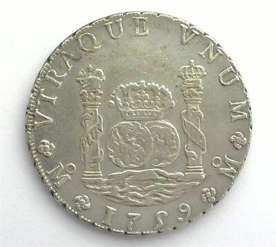 Mexico 1759-Momm Silver 8 Reales Choice Almost Uncirculated