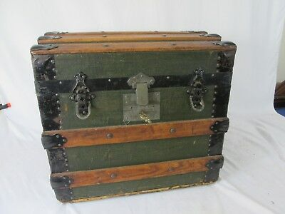 Antique  1/2  Size Steamer Trunk