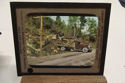 Canada Lumbering In St. Johns River Valley Color Magic Lantern Slides Bb117