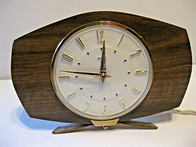 1970's English Vintage Electric Mantel Clock Metamec UK Plug