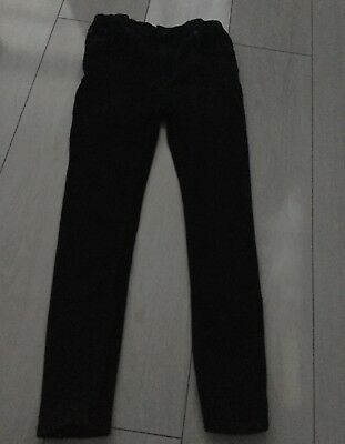 boys black river island jeans with adjustable waist, age 11