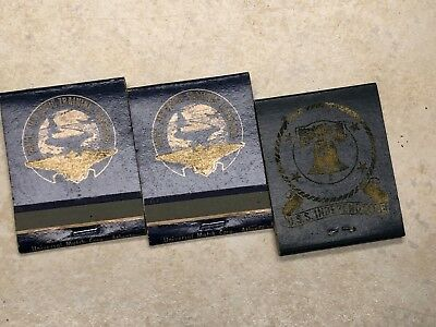 Lot of 3 Vintage US Navy Matchbooks - USS Independence & Pensacola Officers Mess